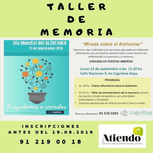 Taller memoria